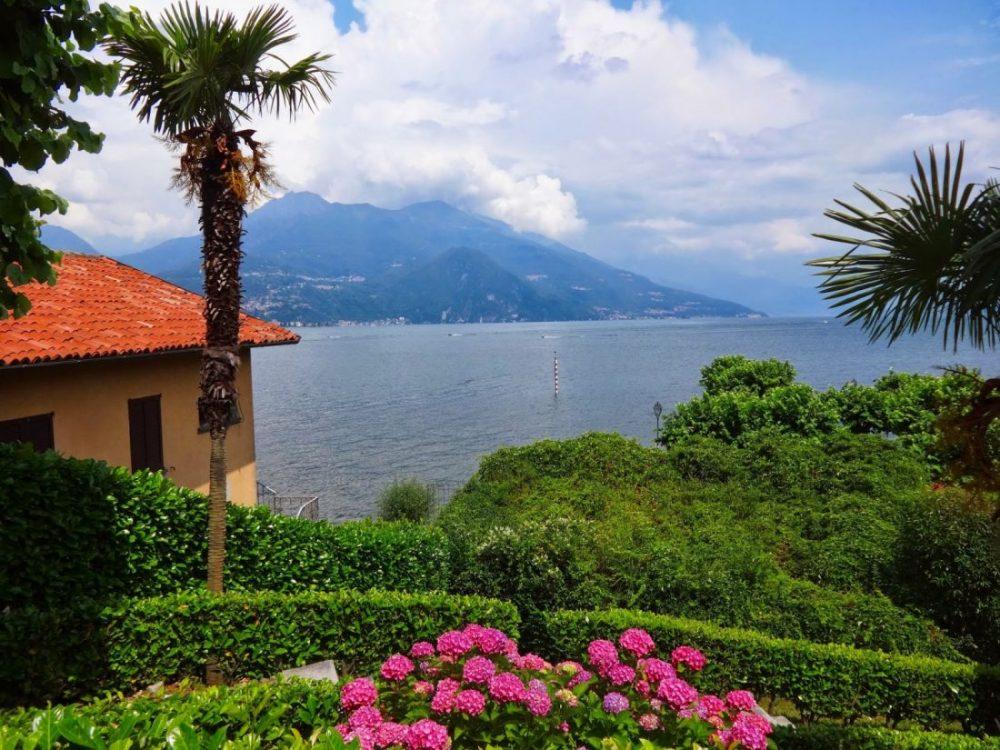 Dzień nad Jeziorem Como Włochy