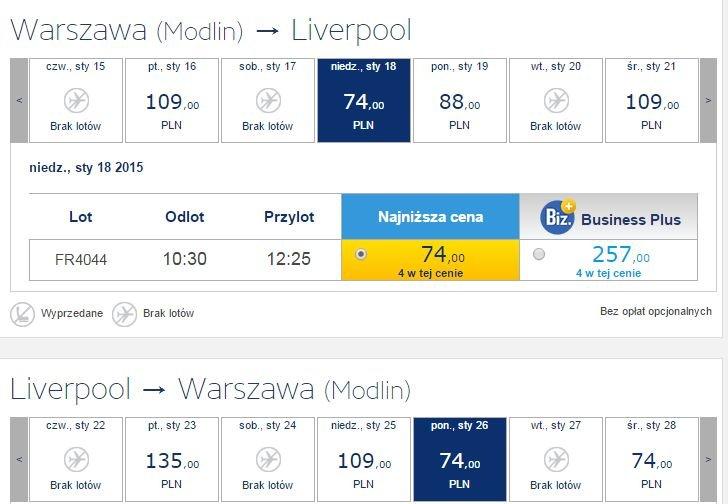 Warszawa Liverpool R