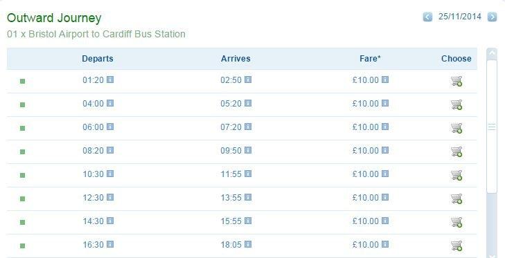 autobus z lotniska z bristolu