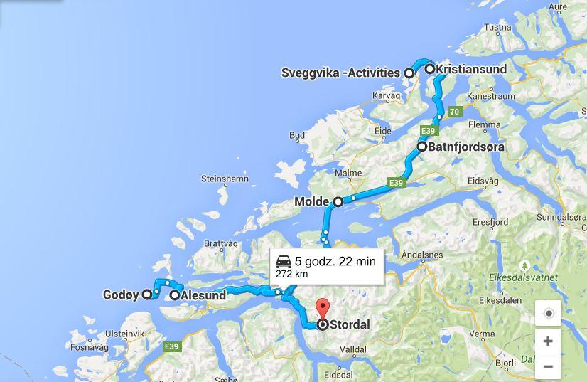 Kristiansund Aledund mapa