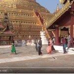 Cel z kamerą wśród birmańskich pagód
