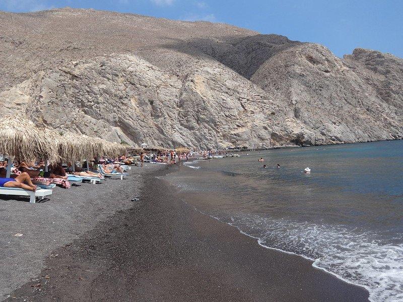 plaże na Santorini w Grecji