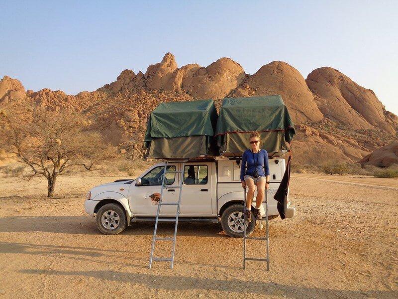 kempingi w Namibii