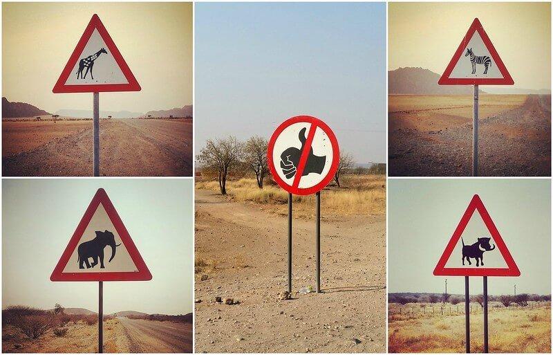 przepisy drogowe w Namibii