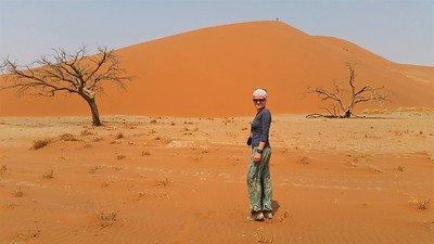 pomarańczowe wydmy Sossusvlei Dune 45