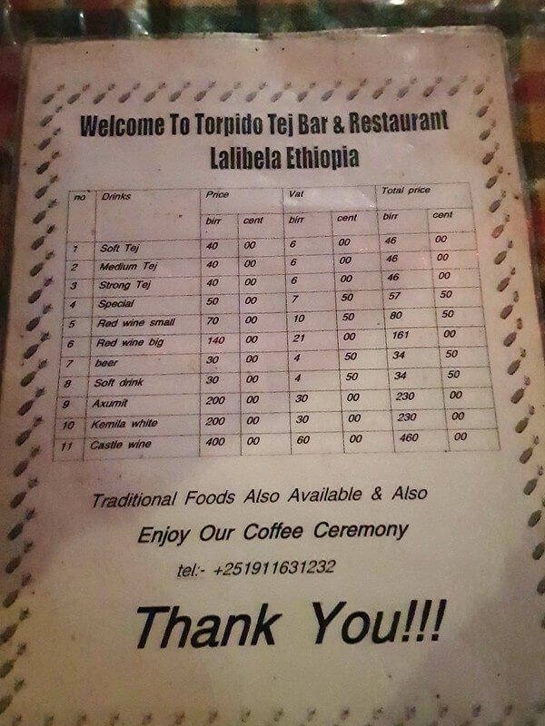 tanie restauracje w Lalibeli