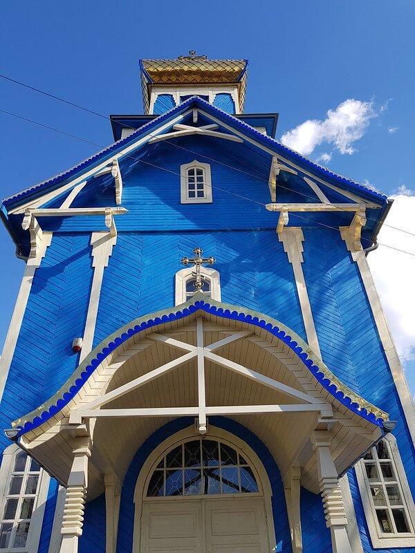 niebieskie cerkwie na Podlasiu
