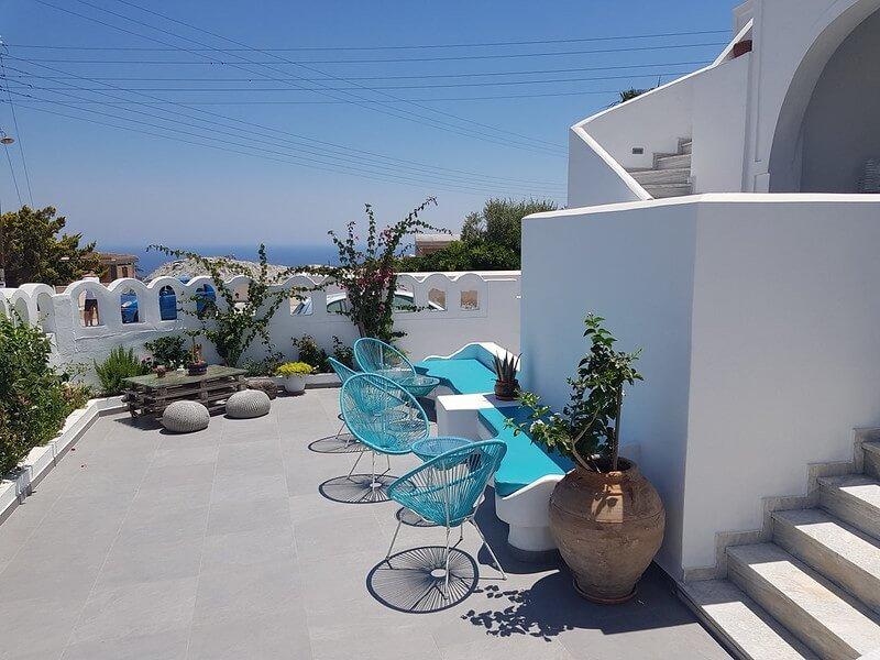 tani nocleg na Santorini