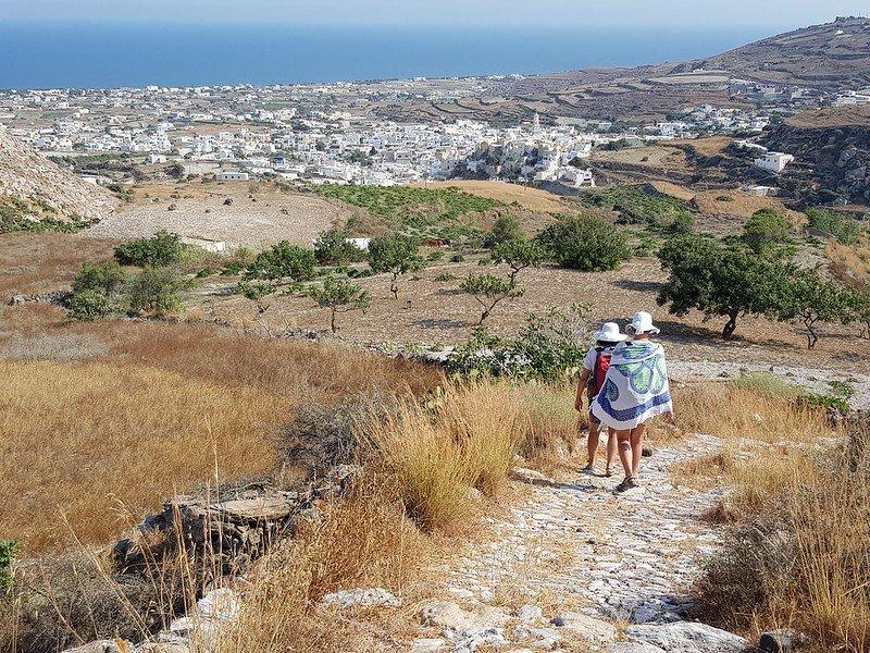 szlaki trekkingowe na Santorini