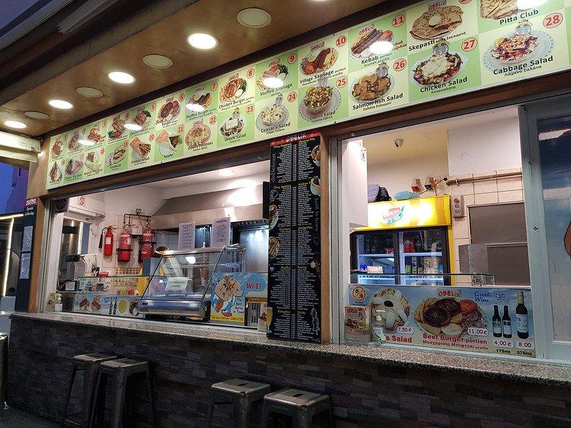 tanie jedzenie na Santorini