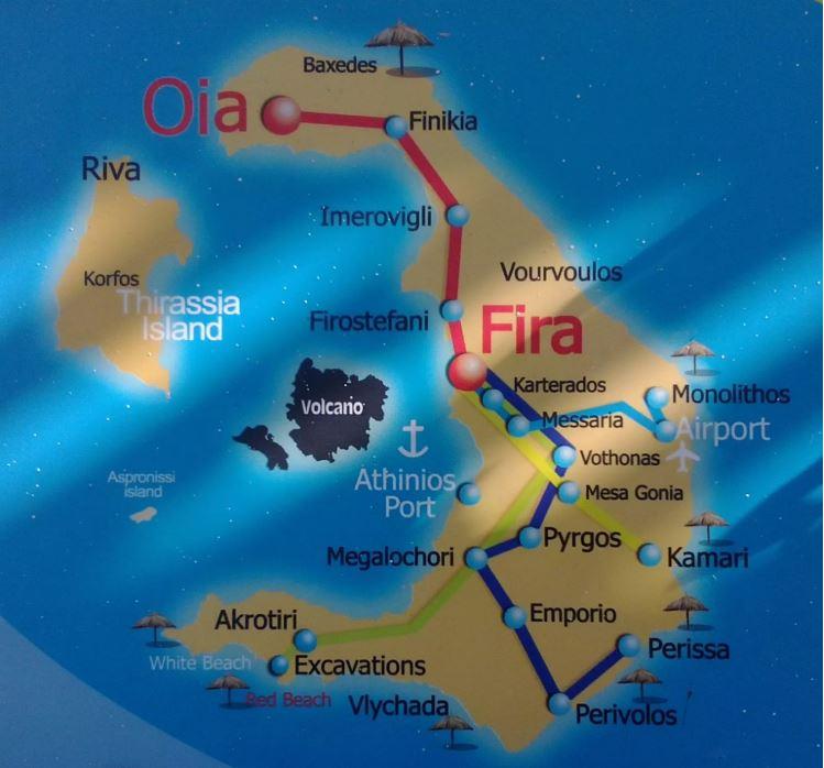 komunikacja publiczna na Santorini
