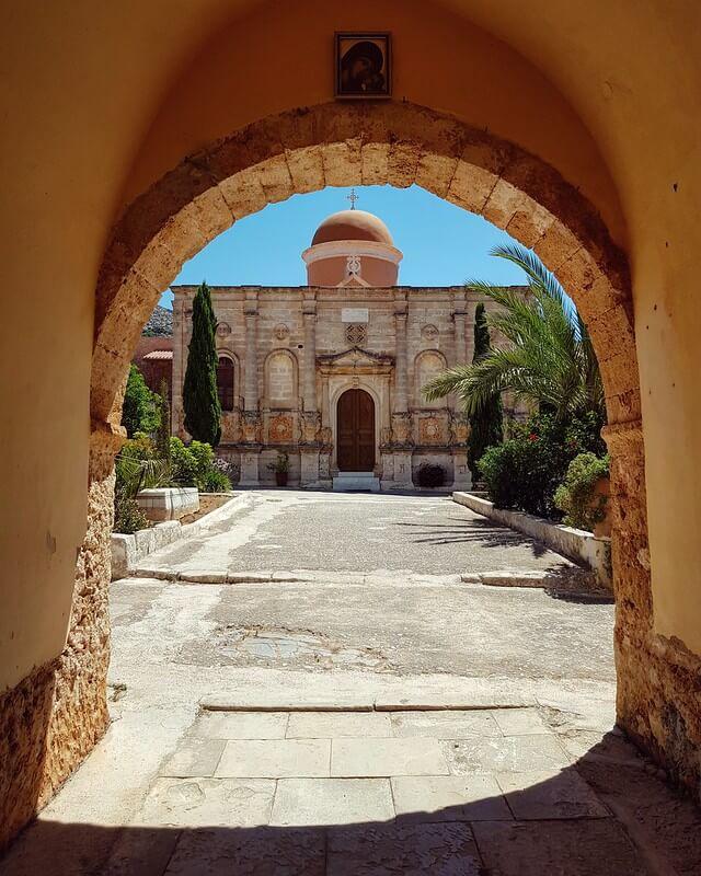 najpiękniejsze klasztor na Krecie